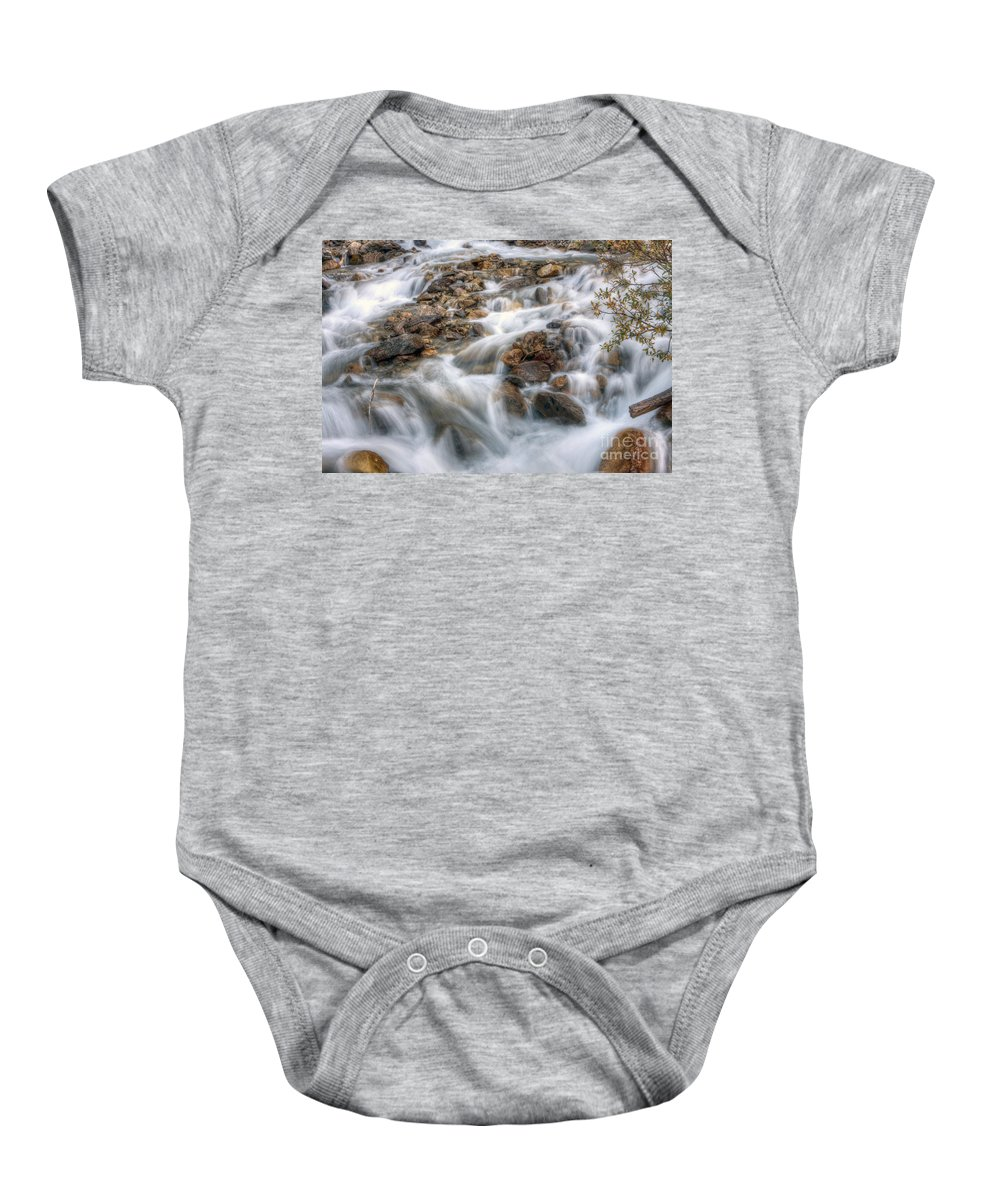 Falls Baby Onesie featuring the photograph 0190 Glacial Runoff 2 by Steve Sturgill