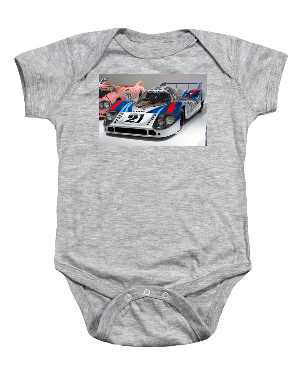 3d Baby Onesie featuring the photograph 1971 Porsche 917 Lh Coupe by Paul Fearn