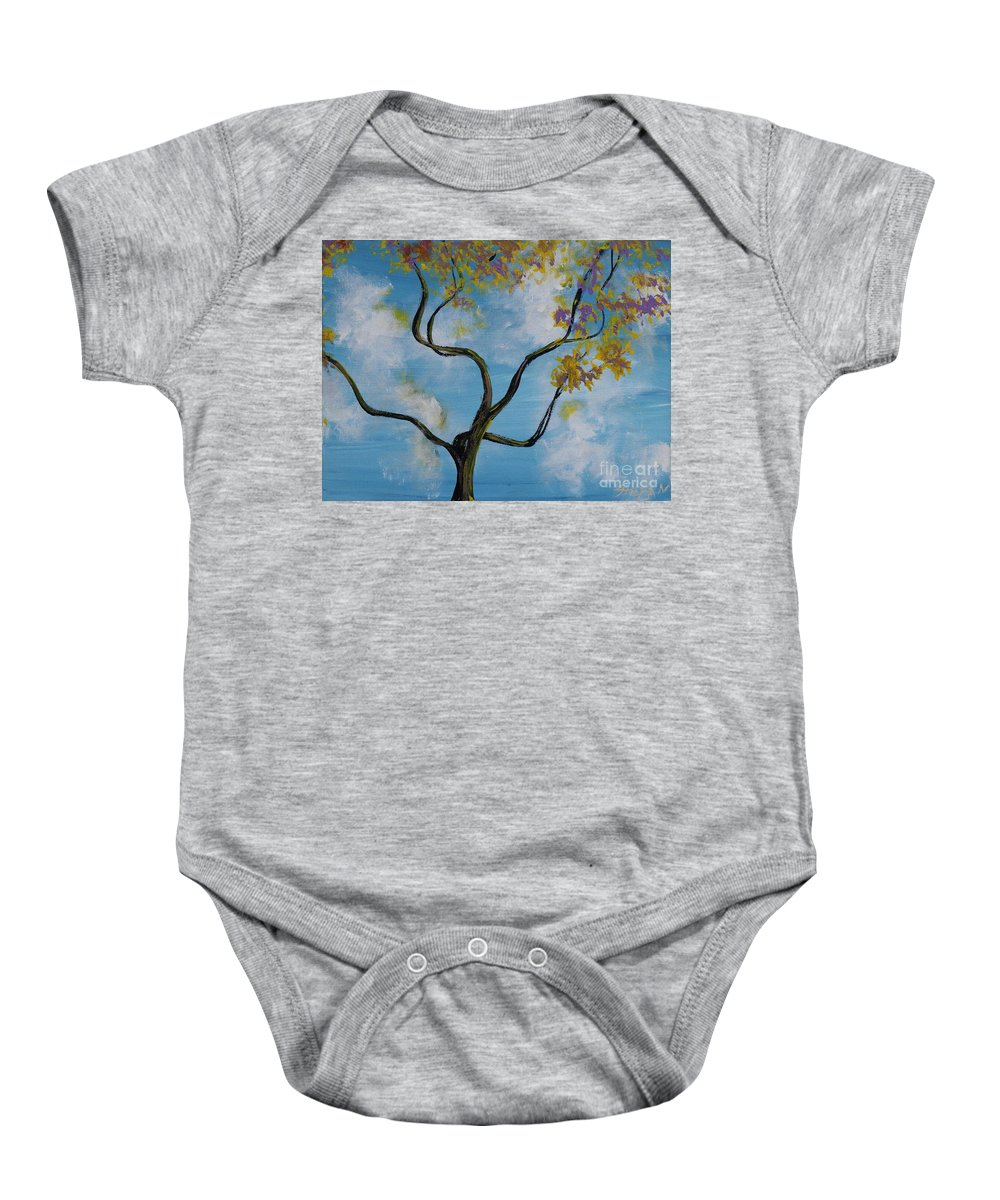 Impressionism Baby Onesie featuring the painting A Little All Over The Place by Stefan Duncan