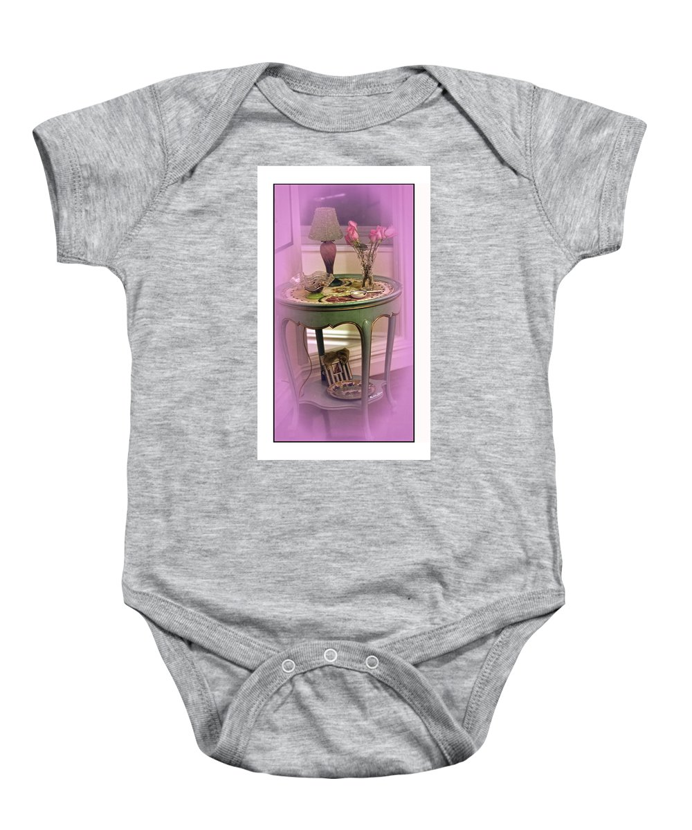 Table Baby Onesie featuring the photograph A Memory by Madeline Ellis
