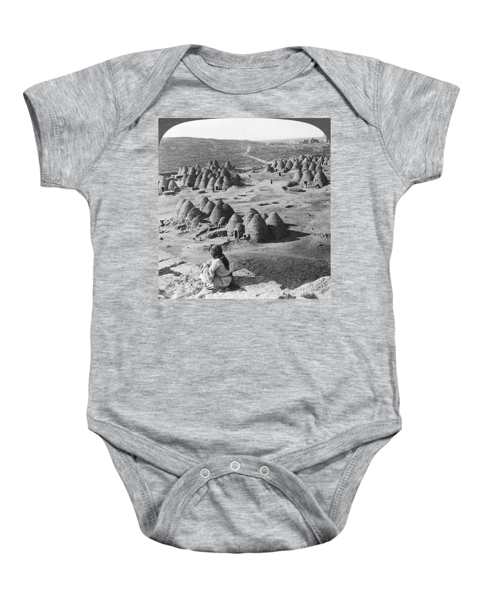 1900 Baby Onesie featuring the photograph Arab Bee Hive Village by Underwood & Underwood