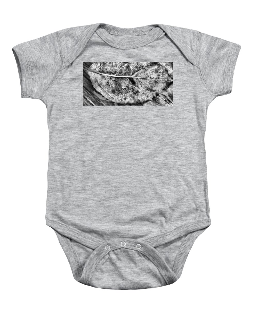 Autumn Baby Onesie featuring the photograph Lonely Leaf by Dan Sproul