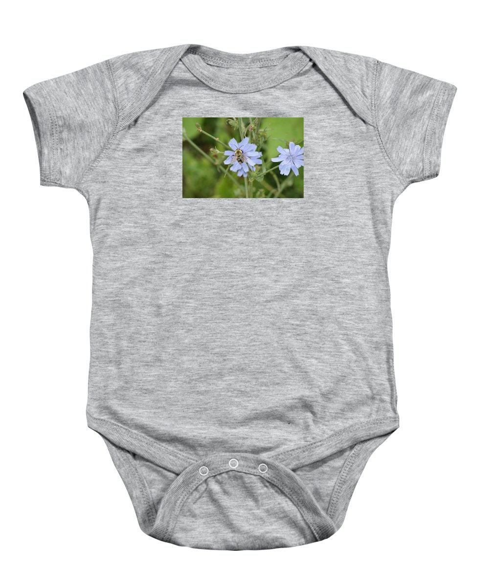 Flower Baby Onesie featuring the photograph Bumble Bee by Heidi Poulin