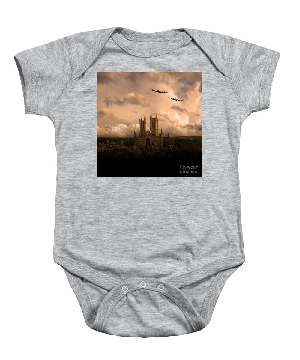 Avro Baby Onesie featuring the digital art Cathedral Pass 1 by Airpower Art