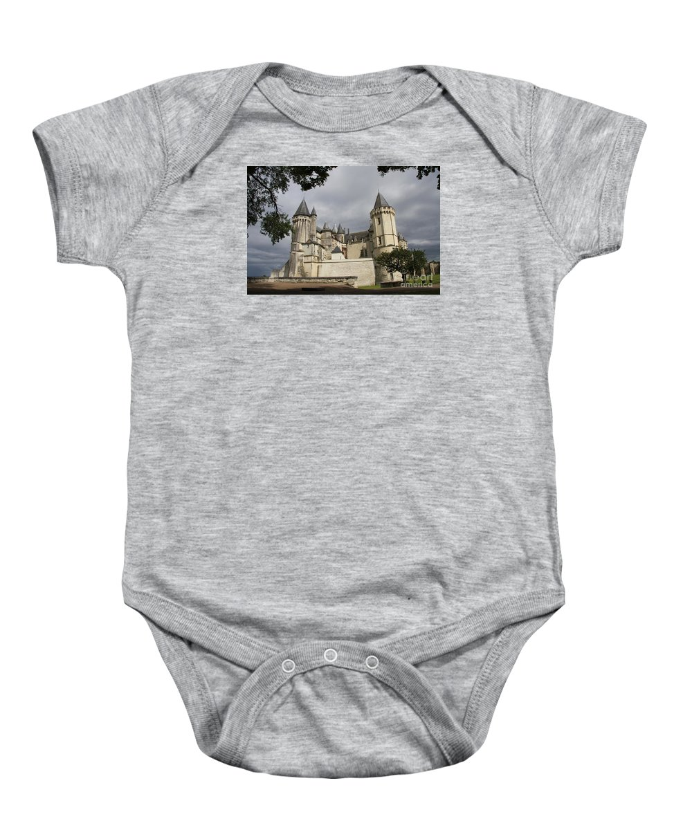 Castle Baby Onesie featuring the photograph Chateau Saumur by Christiane Schulze Art And Photography