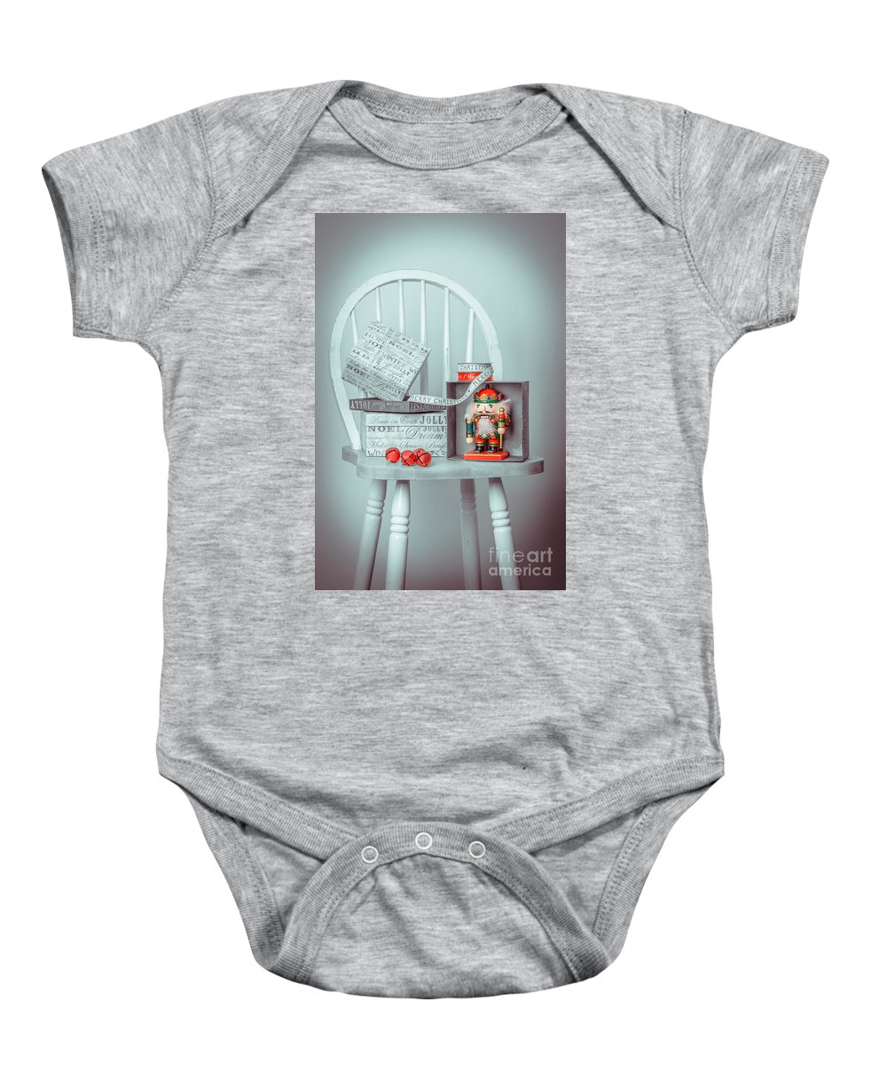 Nutcracker Baby Onesie featuring the photograph Christmas Presents by Amanda Elwell