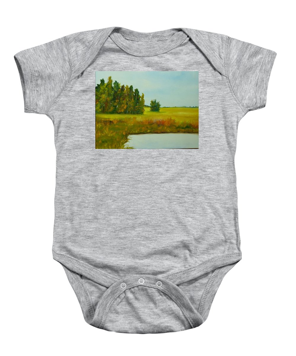 Colorado Baby Onesie featuring the painting Colorado Autumn by Lord Frederick Lyle Morris