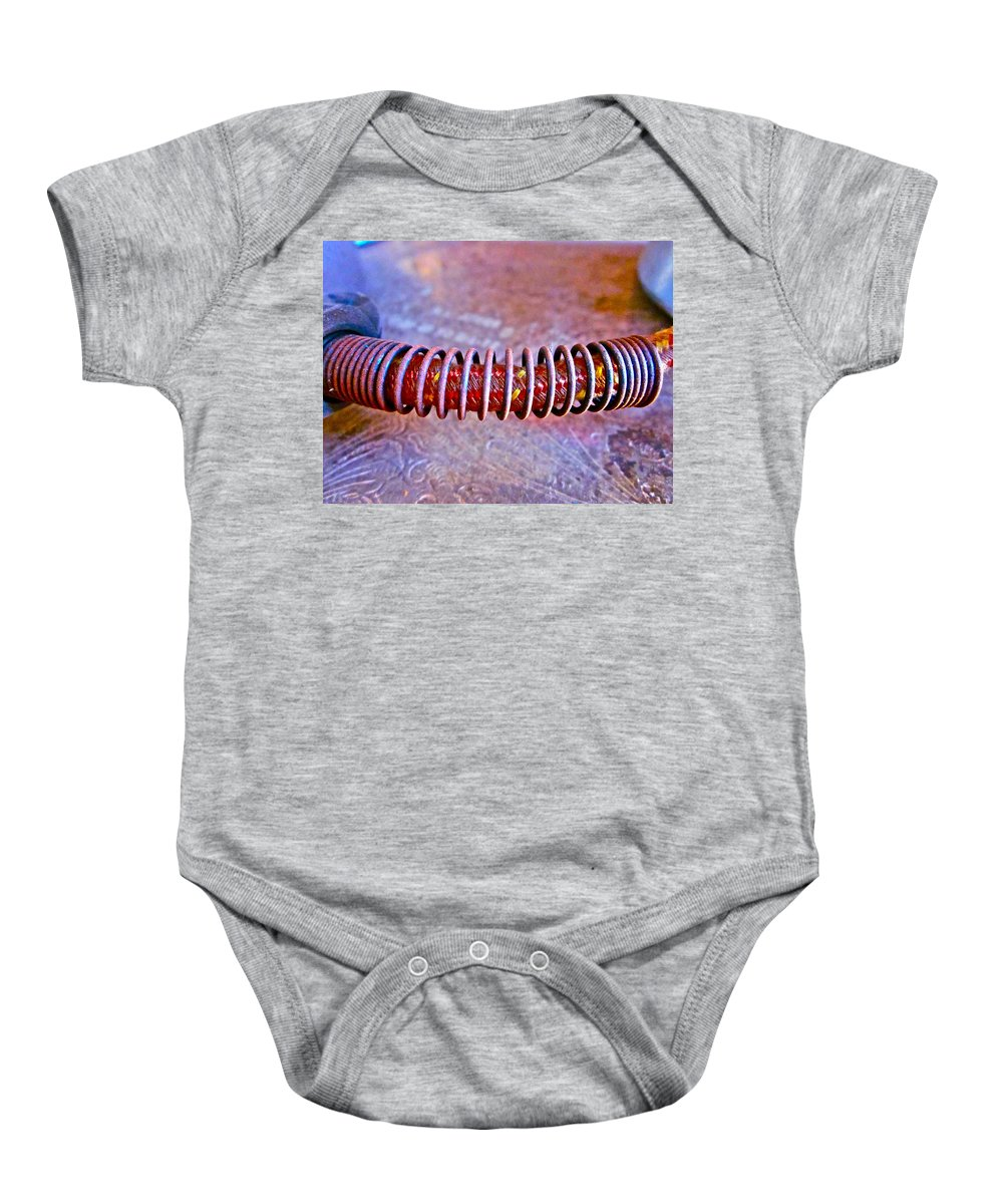 Photograph Of Plug Baby Onesie featuring the photograph Connected by Gwyn Newcombe