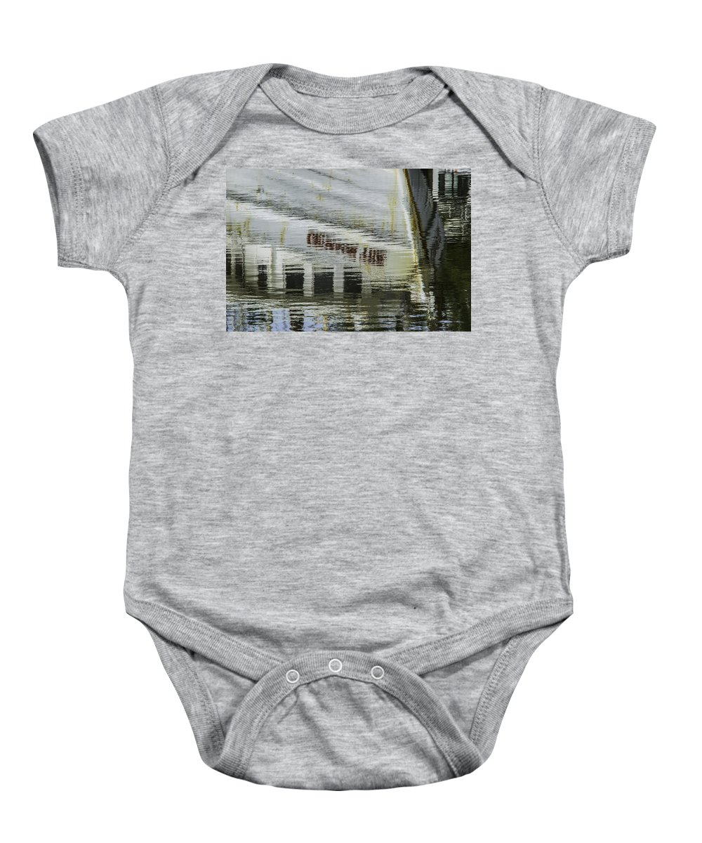 Etalabama Baby Onesie featuring the digital art Crimson Tide Reflection by Michael Thomas