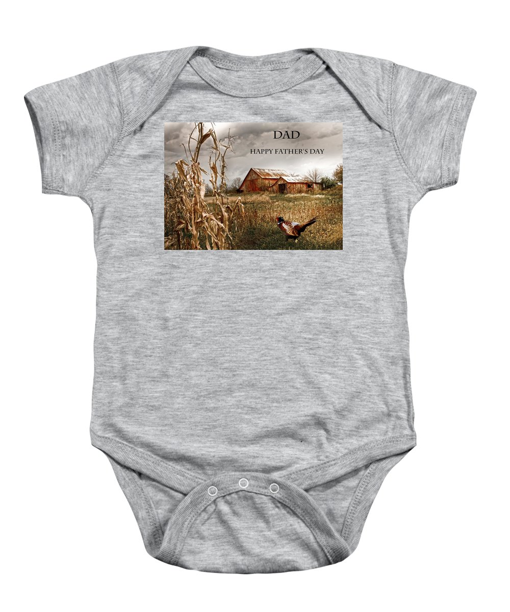 Father's Day Baby Onesie featuring the photograph Dad Happy Father's Day by Randall Branham