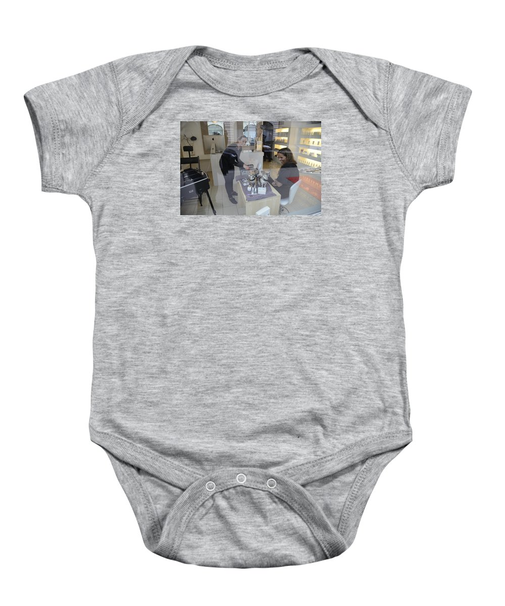 Dog And Friend Baby Onesie featuring the photograph Dog And True Friendship 8 by Teo SITCHET-KANDA