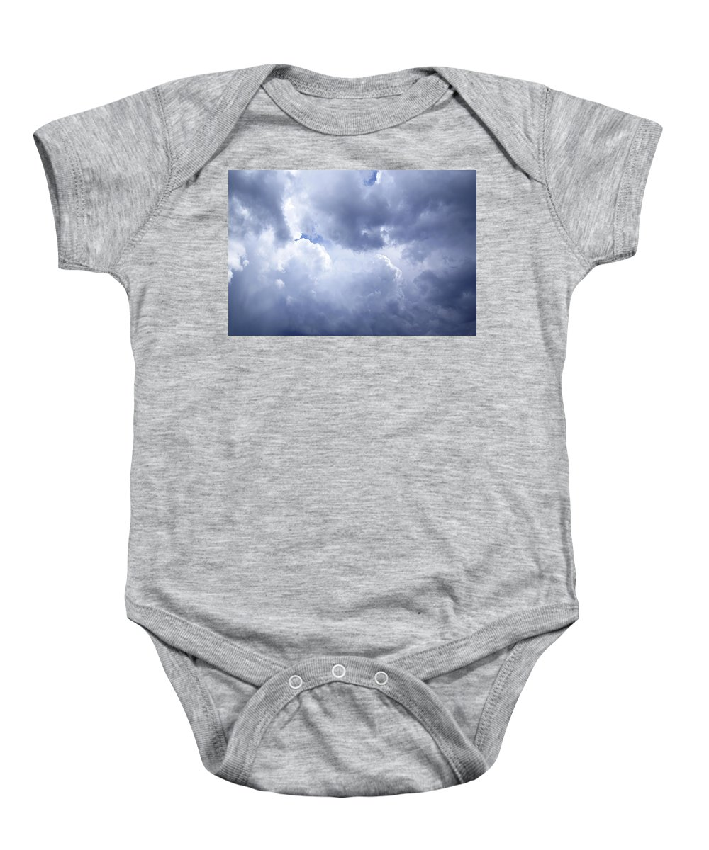 Sky Baby Onesie featuring the photograph Dramatic Cloudy Sky by Donald Erickson