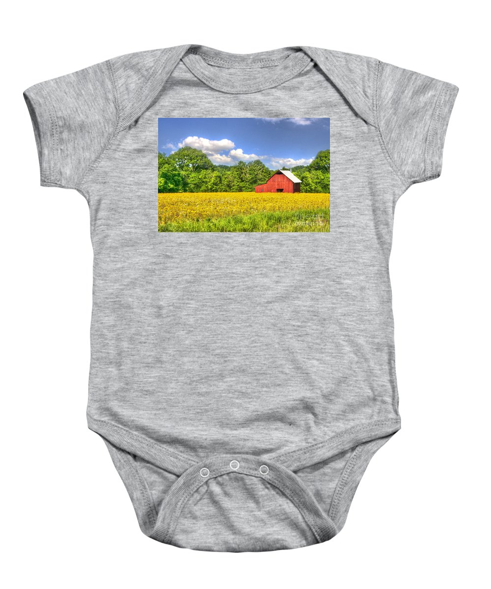 2008 Baby Onesie featuring the photograph Floating In Flowers by Larry Braun
