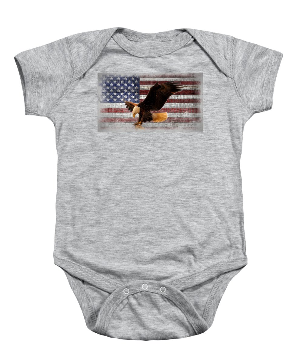 America Baby Onesie featuring the photograph Freedom by Bonfire Photography