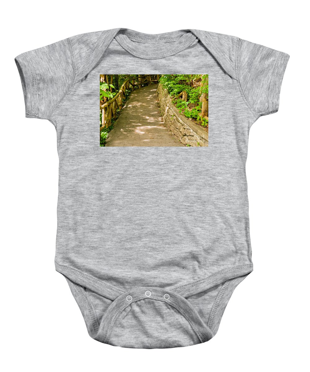 Forest Baby Onesie featuring the photograph Garden Path by Les Palenik