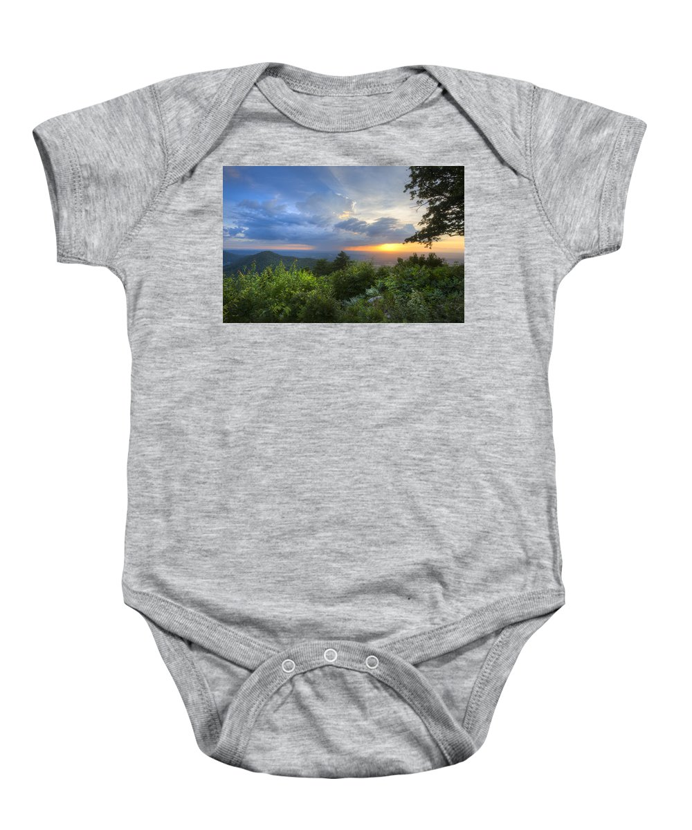 Appalachia Baby Onesie featuring the photograph Glory by Debra and Dave Vanderlaan