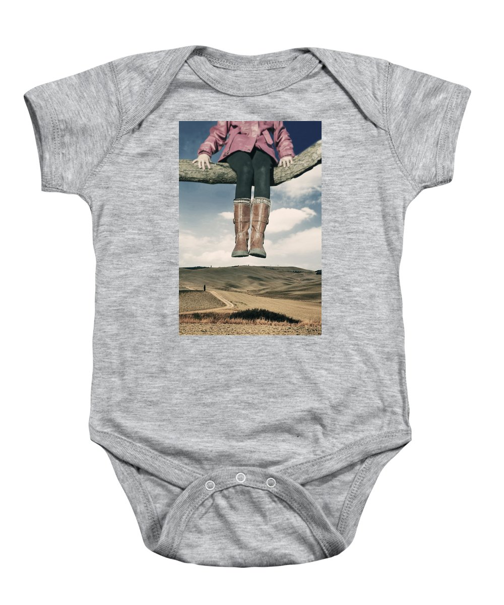 Girl Baby Onesie featuring the photograph High Over The World by Joana Kruse