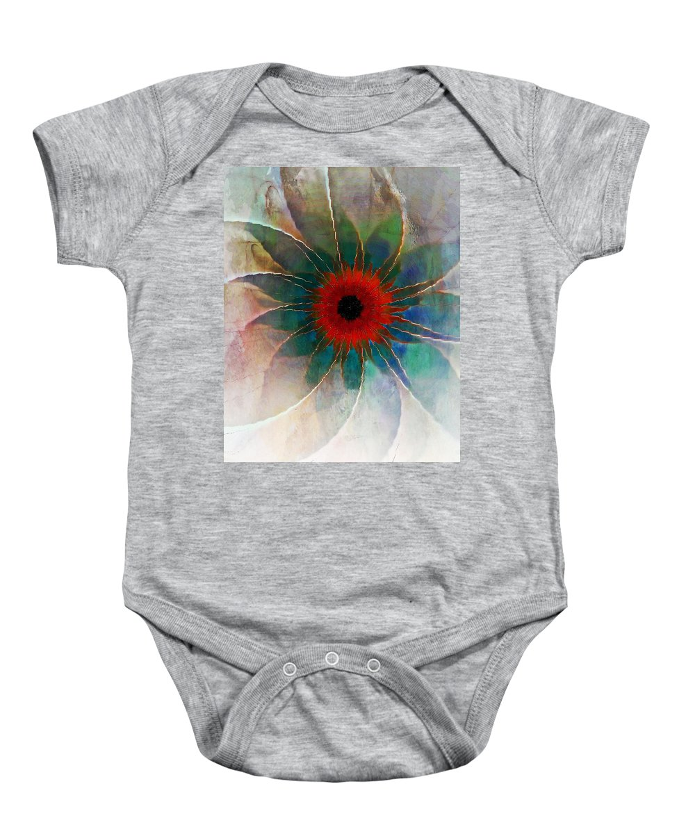 Digital Art Baby Onesie featuring the digital art In Glass by Amanda Moore