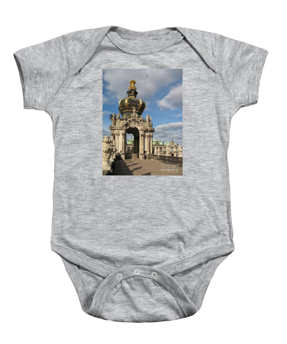 Zwinger Baby Onesie featuring the photograph Kronentor Zwinger Dresden by Christiane Schulze Art And Photography