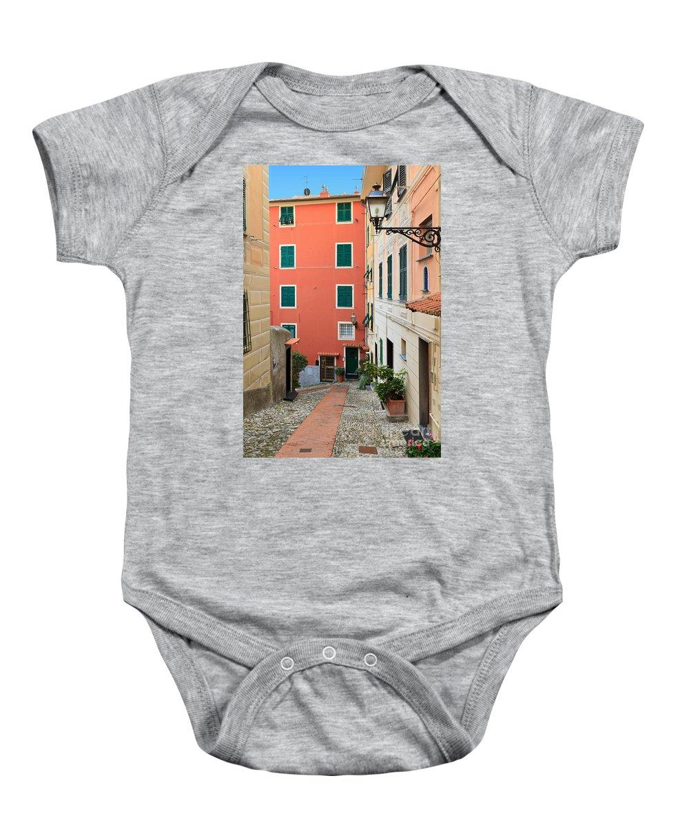 Ancient Baby Onesie featuring the photograph Liguria - Sori by Antonio Scarpi