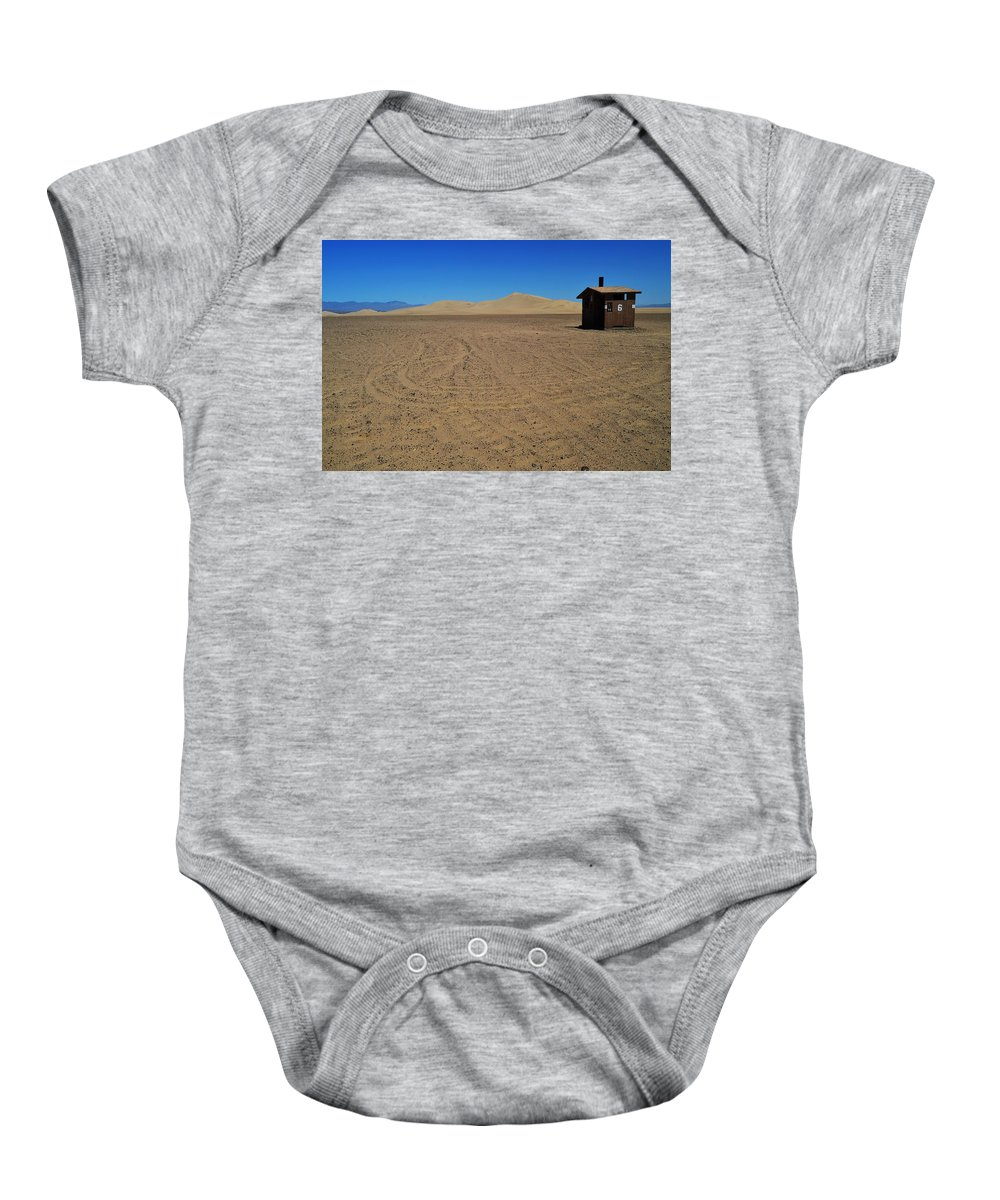Sand Baby Onesie featuring the photograph Lucky Number 6 by See My Photos