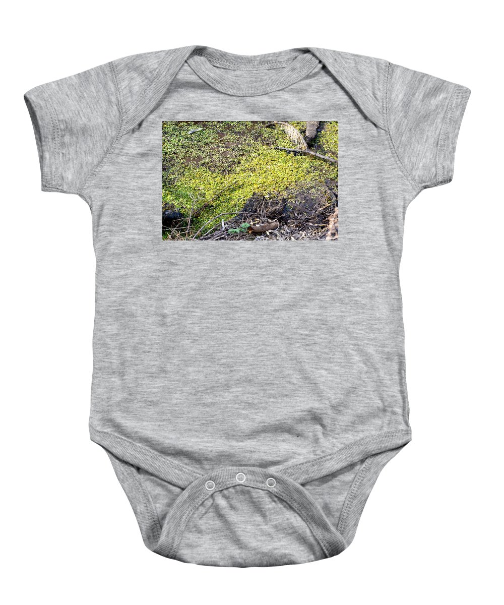 Marsh Baby Onesie featuring the photograph Marshy by Brent Dolliver