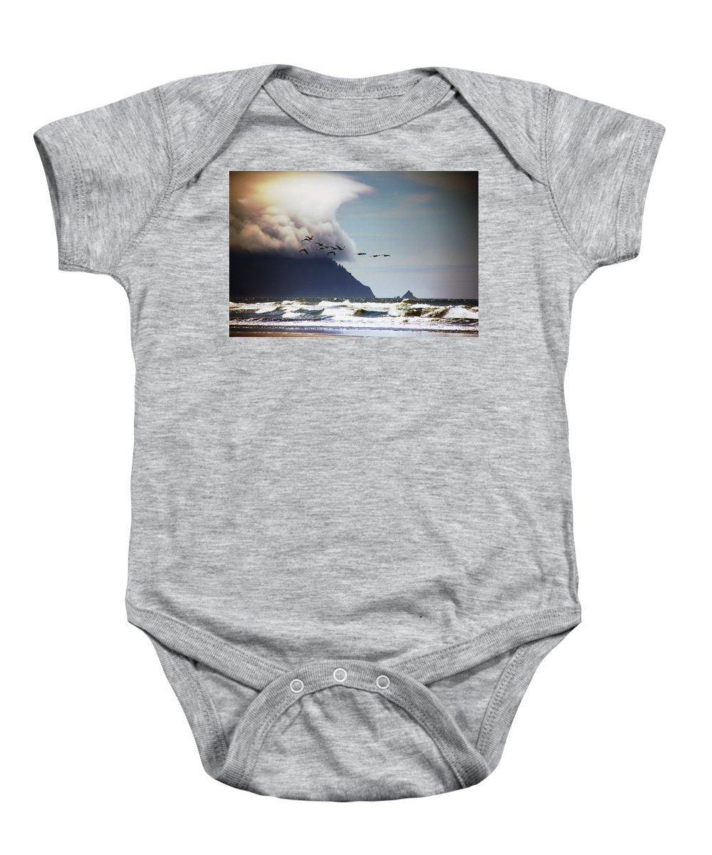 Ocean Baby Onesie featuring the photograph Oregon Coast by Aaron Berg