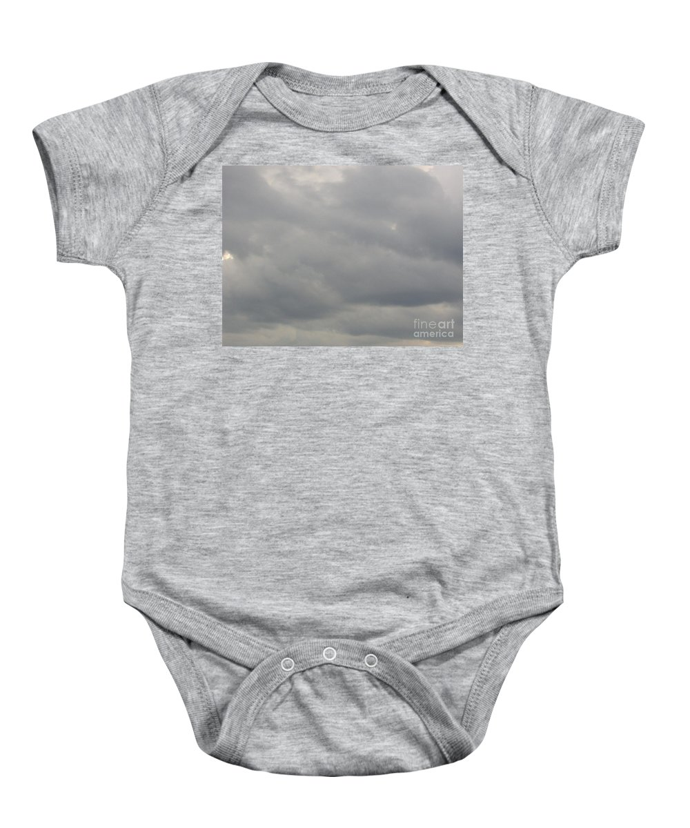 Clouds Baby Onesie featuring the photograph Rain Clouds by D Hackett