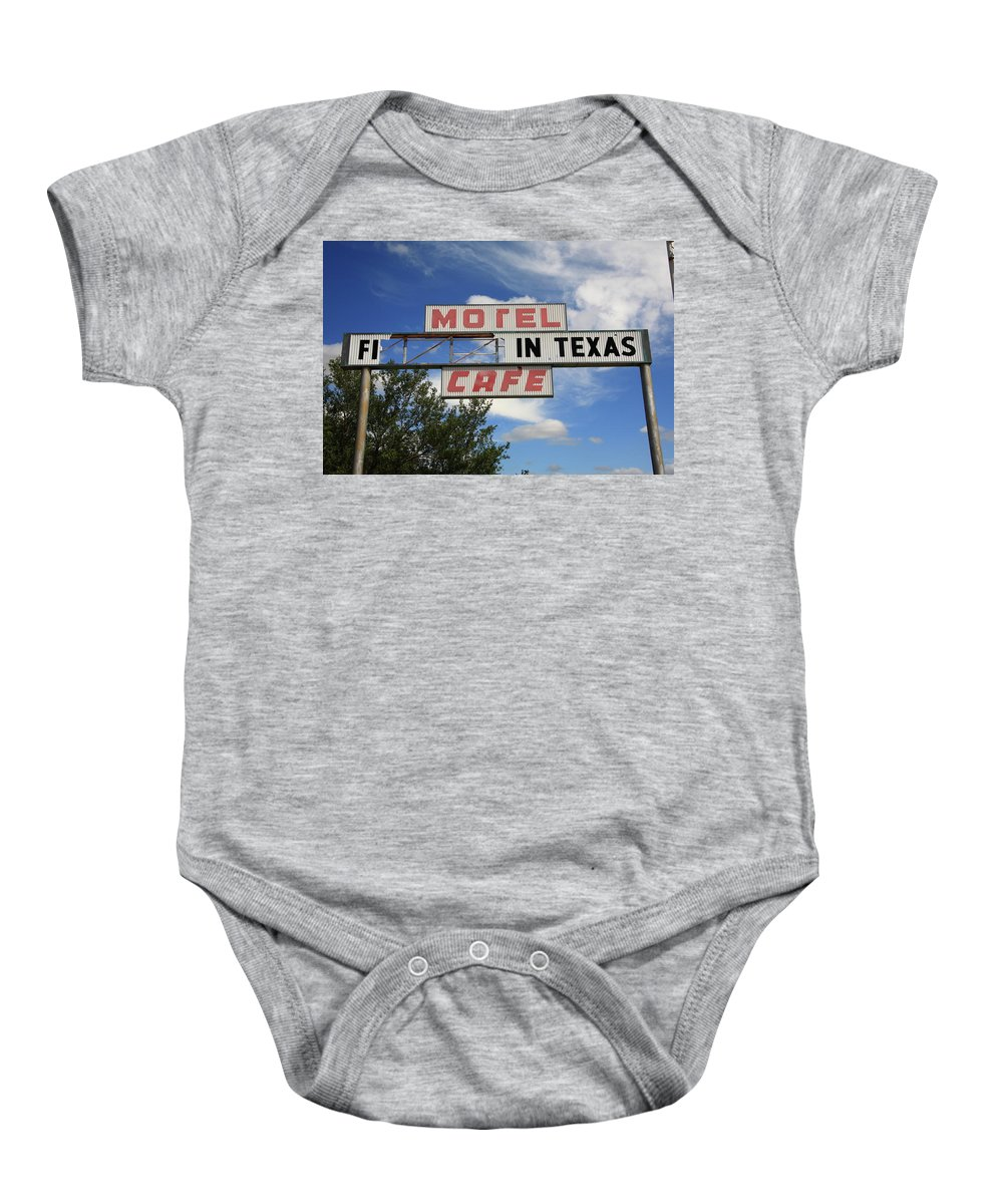 66 Baby Onesie featuring the photograph Route 66 - Glenrio Texas by Frank Romeo