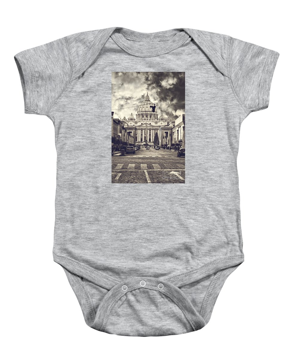 Rome Baby Onesie featuring the photograph Saint Peters Basilica Rome by Sophie McAulay
