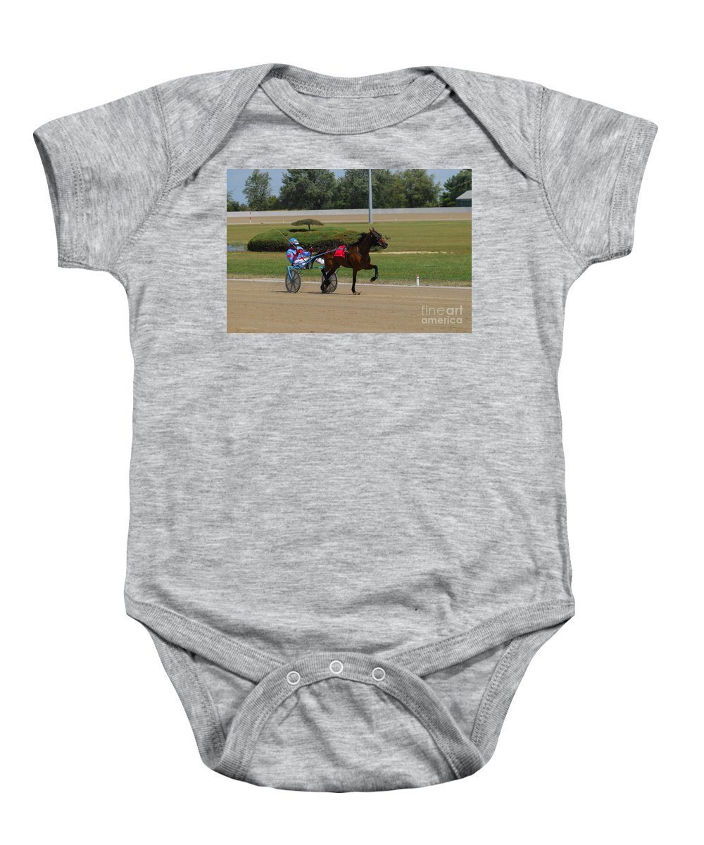 Scioto Downs Baby Onesie featuring the photograph D39w-399 Scioto Downs by Ohio Stock Photography