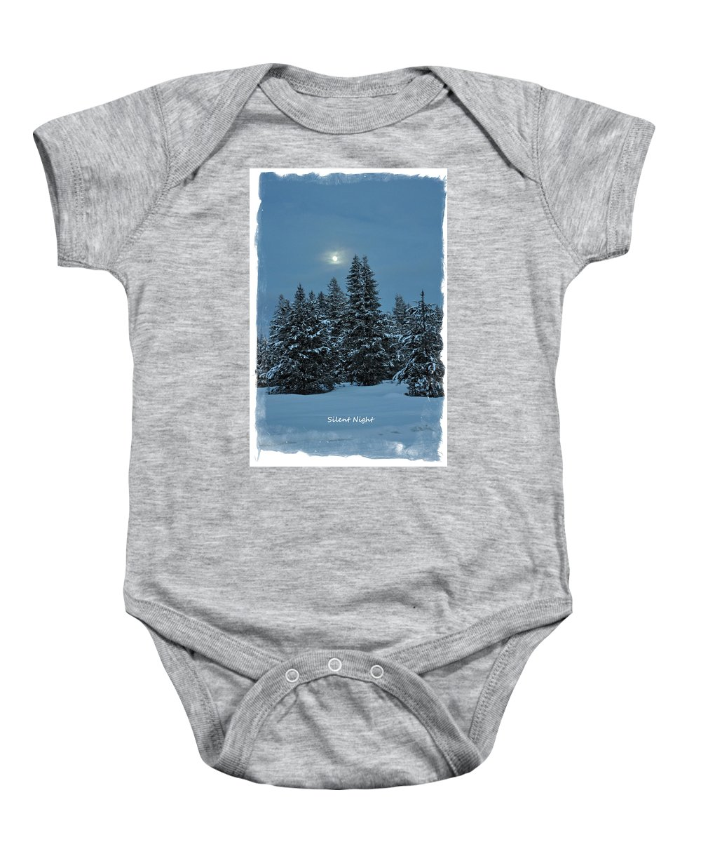 Island Park Baby Onesie featuring the photograph Silent Night by Image Takers Photography LLC - Laura Morgan