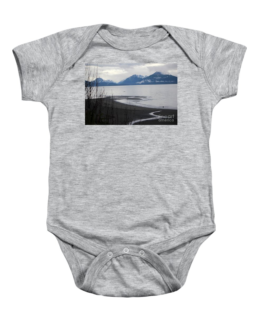 Kayak Baby Onesie featuring the photograph Solitude by Stacey May
