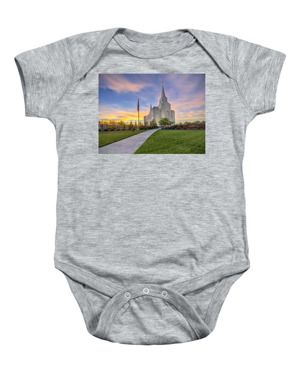 Utah Baby Onesie featuring the photograph The Chosen Path by Dustin LeFevre