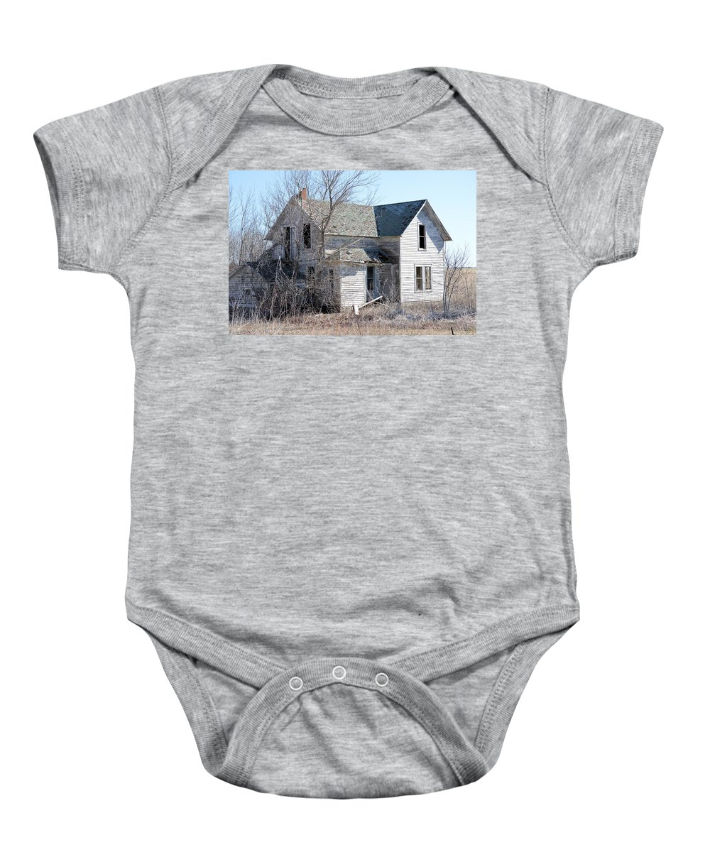 Homestead Baby Onesie featuring the photograph The Homestead by Bonfire Photography
