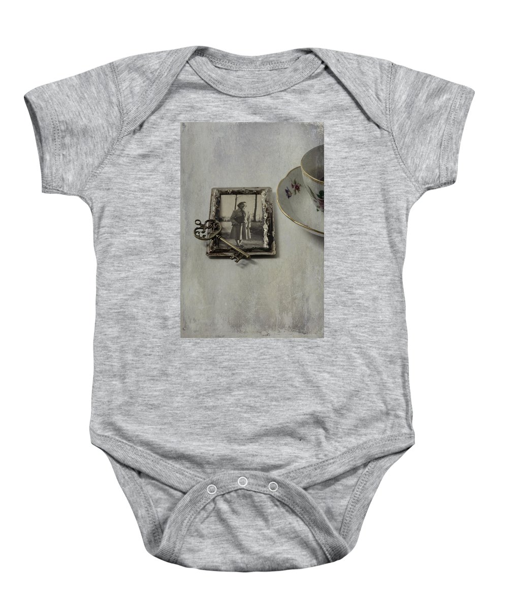 Coffee Baby Onesie featuring the photograph Time For Coffee by Joana Kruse