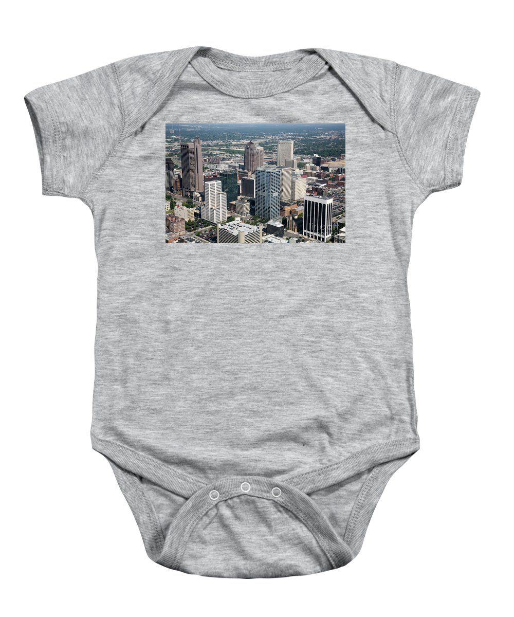 Columbus Baby Onesie featuring the photograph Uptown District by Bill Cobb