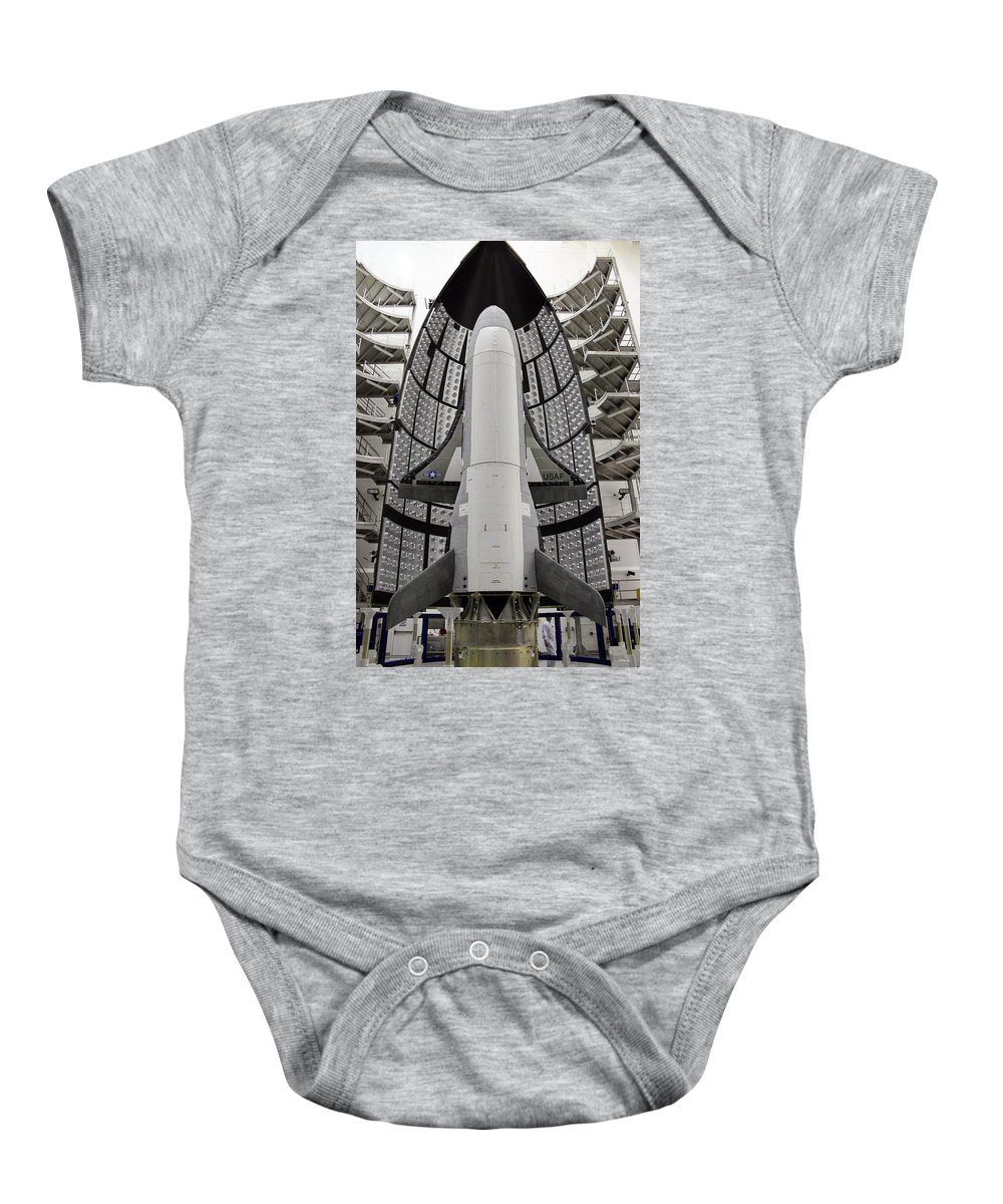 Astronomy Baby Onesie featuring the photograph X-37b Orbital Test Vehicle by Science Source