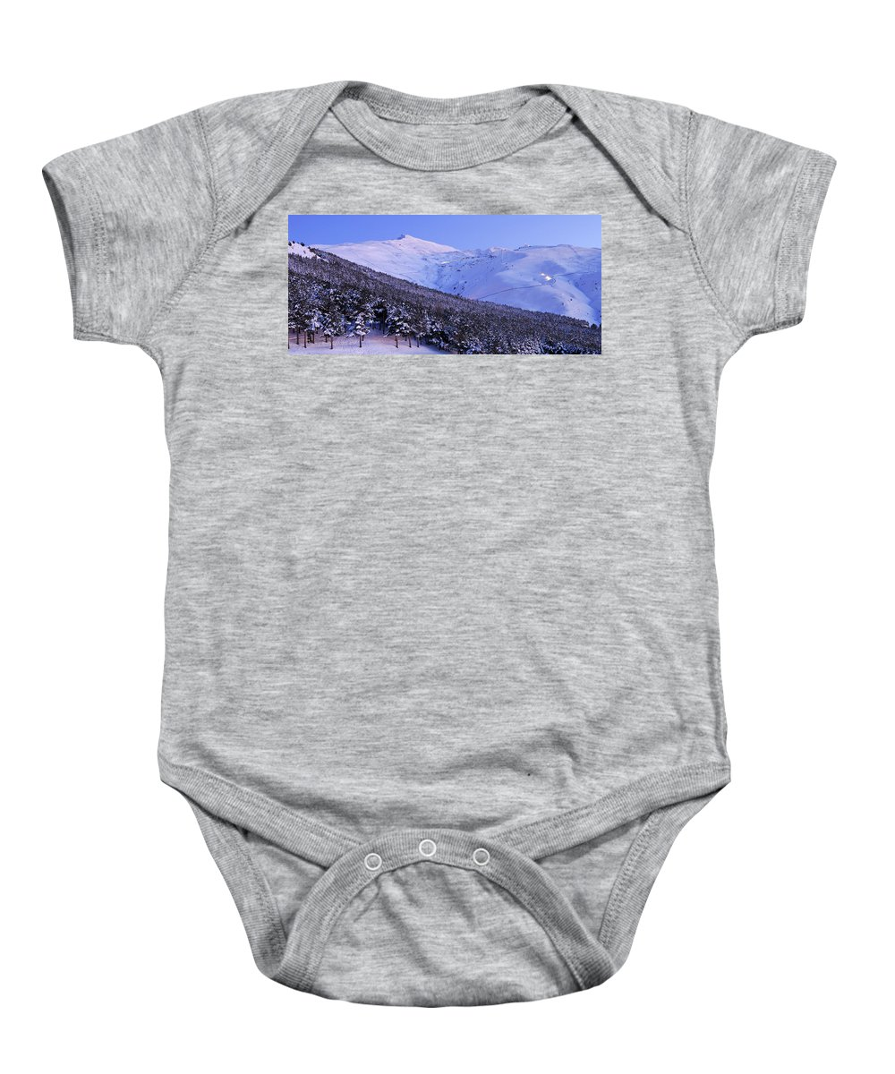 Sunset Baby Onesie featuring the photograph Sierra Nevada by Guido Montanes Castillo