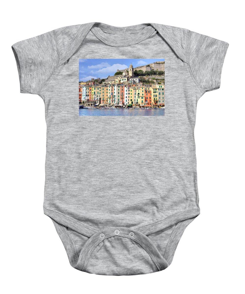 Porto Venere Baby Onesie featuring the photograph Porto Venere by Joana Kruse