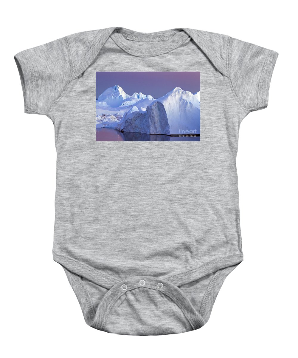 Iceberg Baby Onesie featuring the photograph 120223p179 by Arterra Picture Library