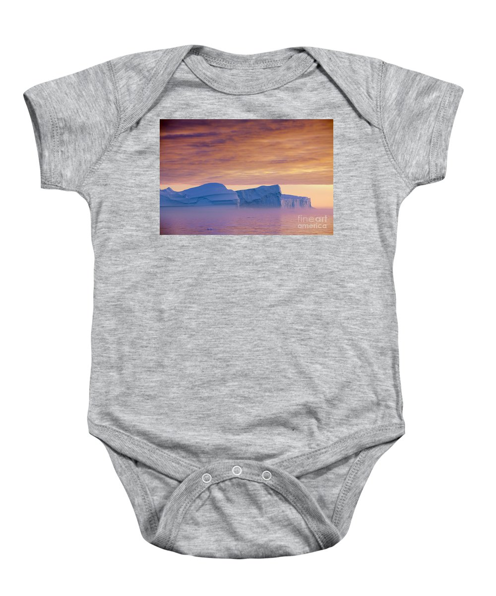 Iceberg Baby Onesie featuring the photograph 120223p180 by Arterra Picture Library