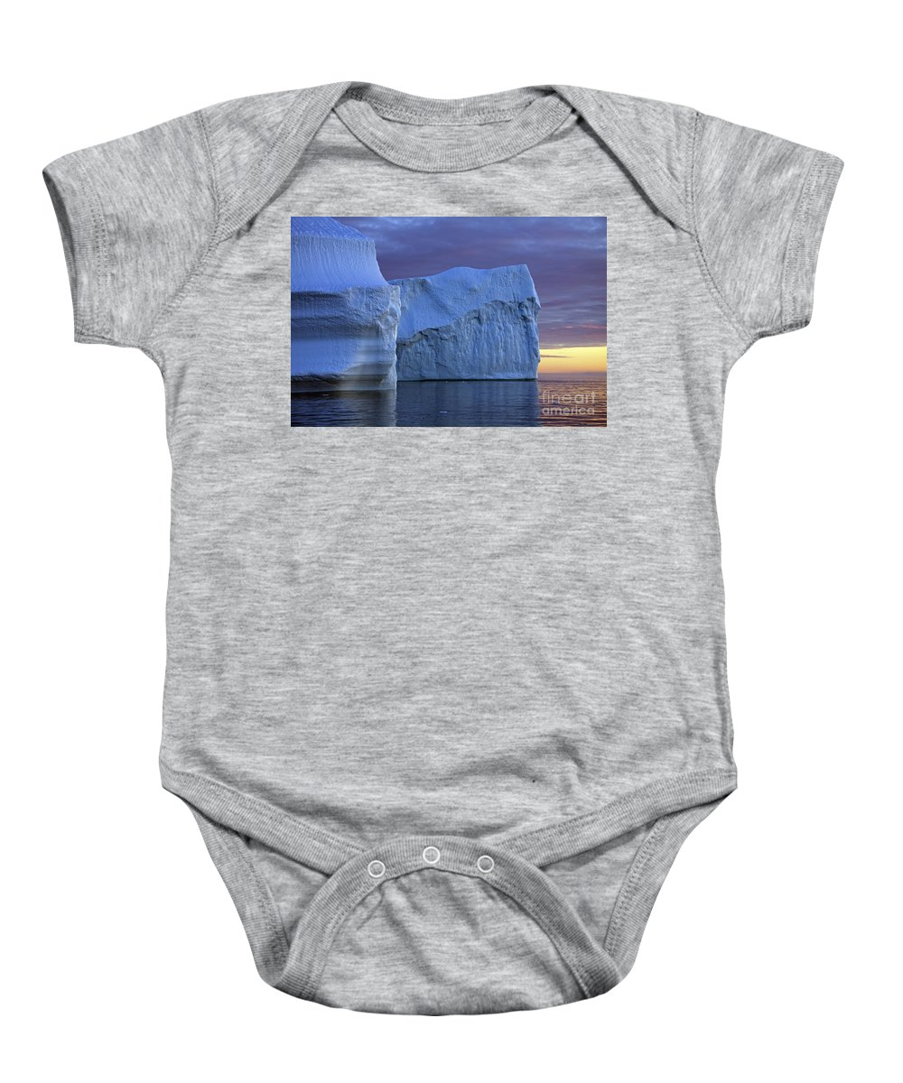 Iceberg Baby Onesie featuring the photograph 120223p181 by Arterra Picture Library