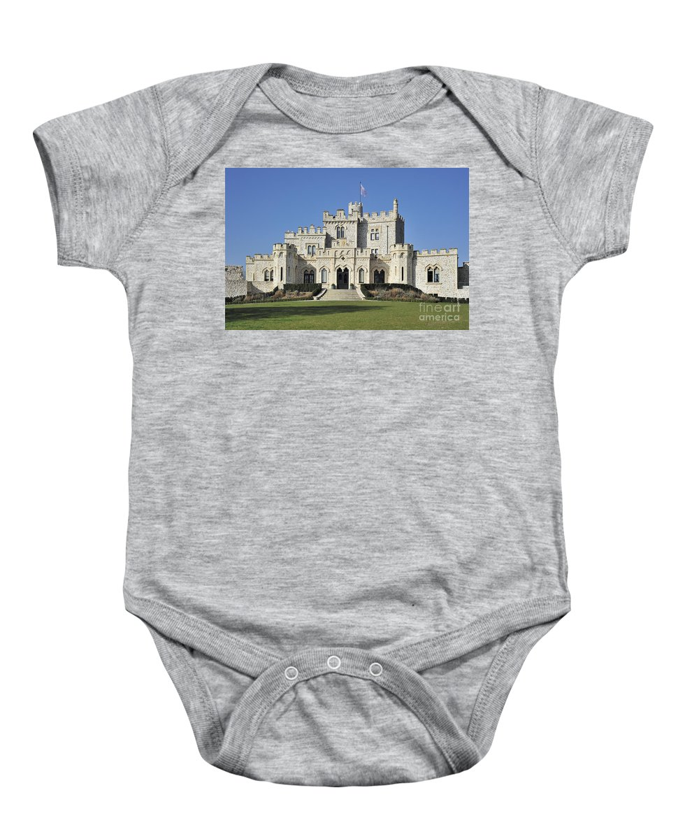 Castle Baby Onesie featuring the photograph 120401p164 by Arterra Picture Library
