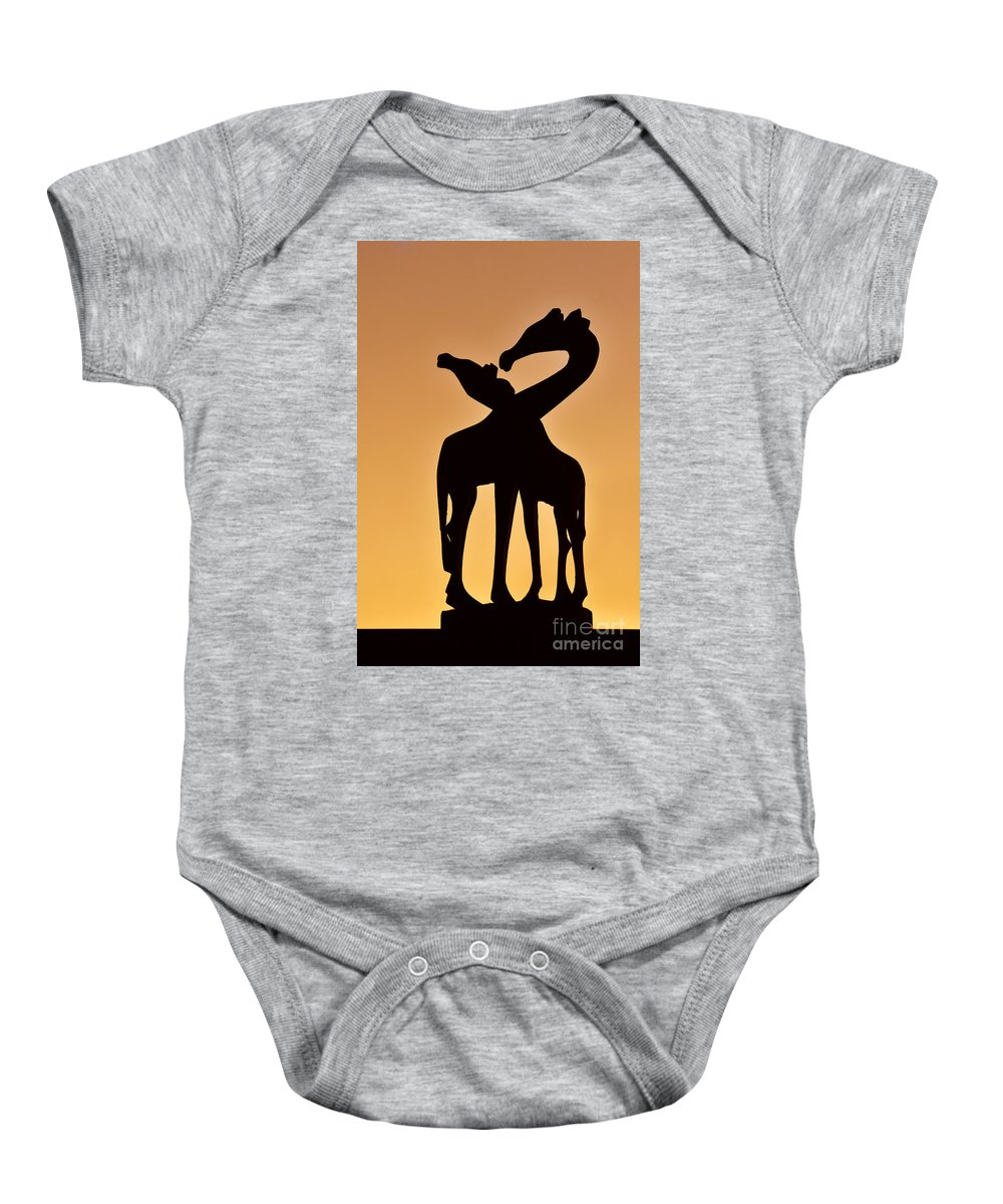 Giraffe Baby Onesie featuring the photograph 120425p283 by Arterra Picture Library