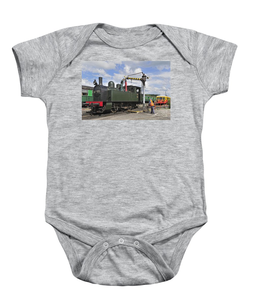 Steam Train Baby Onesie featuring the photograph 120520p304 by Arterra Picture Library