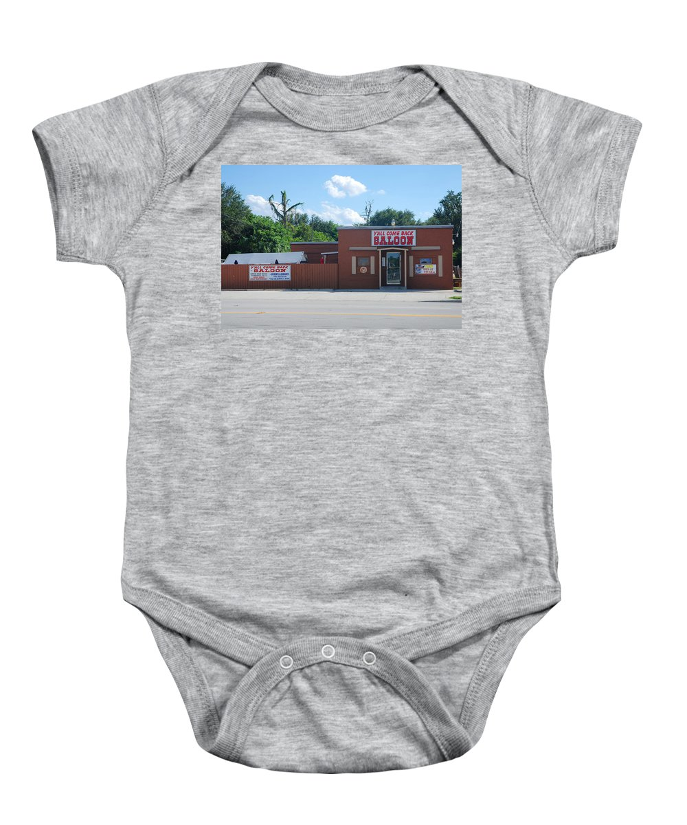 Y'all Come Back Saloon Baby Onesie featuring the photograph 13- Y'all Come Back Saloon by Joseph Keane
