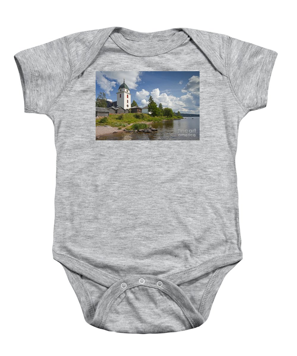 Village Baby Onesie featuring the photograph 130109p190 by Arterra Picture Library