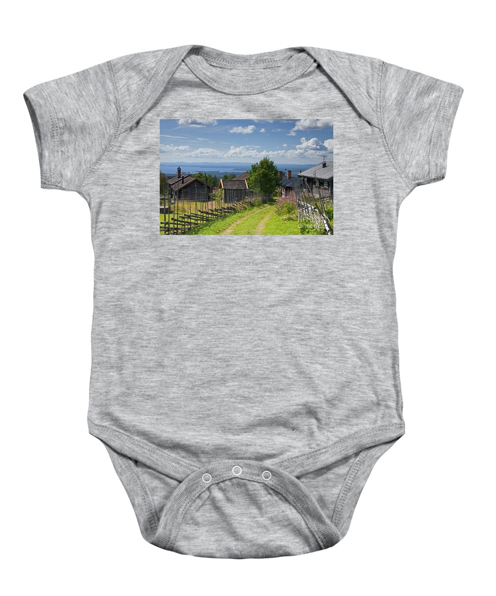 Fryksas Baby Onesie featuring the photograph 130201p098 by Arterra Picture Library