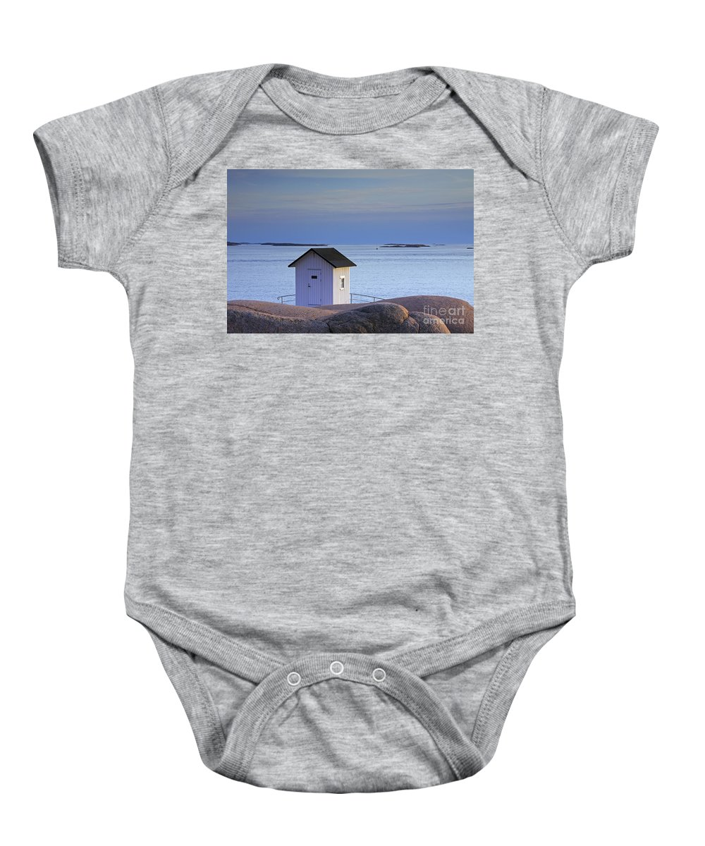 Lighthouse Baby Onesie featuring the photograph 130201p257 by Arterra Picture Library